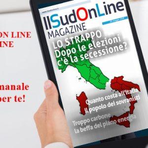 SudonLine Magazine n. 64 – Dopo le elezioni rischio secessione – Il conto dei sovranisti – Gusto pugliese, vent'anni di eno-gastronomia