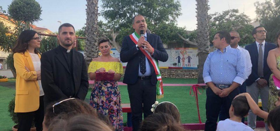 Inaugurato il parco di Matilde a Ispica