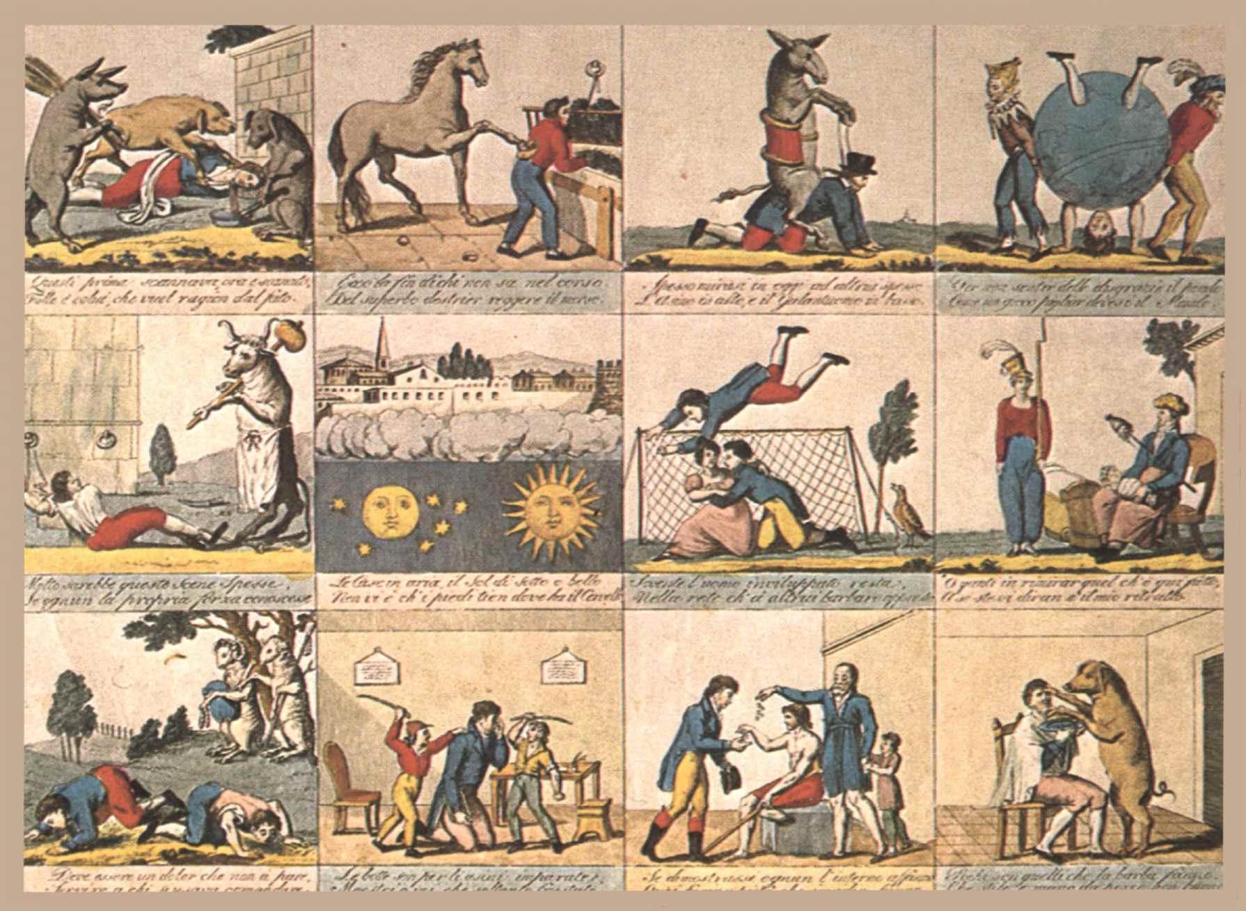 """""""Il mondo alla rovescia"""". Stampa popolare toscana del 1820"""