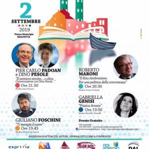 Conversazioni dal Mare. Il 2 settembre a  Molfetta gli ex ministri Padoan e Maroni, i giornalisti Pesole, Foschini e Genisi