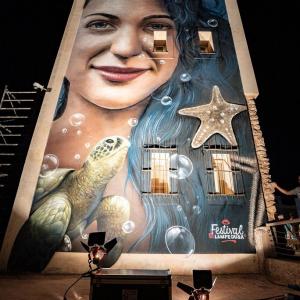 Festival di Lampedusa, un murales in dono come segno di benvenuto