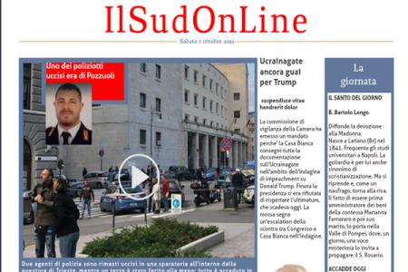 Il SudOnline quotidiano, i fatti e le notizie di sabato 5 ottobre 2019