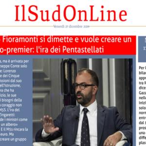Il SudOnLine quotidiano del 27 dicembre: le dimissioni di Fioramonti, il giallo del blogger anti-Putin, la riforma della giustizia