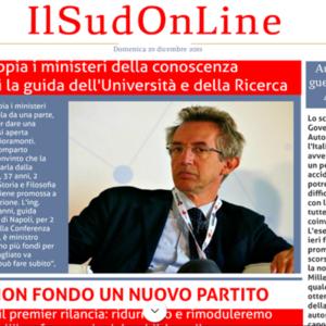 Il SudOnLine quotidiano del 29 dicembre 2019: Manfredi rettore, le promesse di Conte sull'Irpef, i pericoli dei botti sul web
