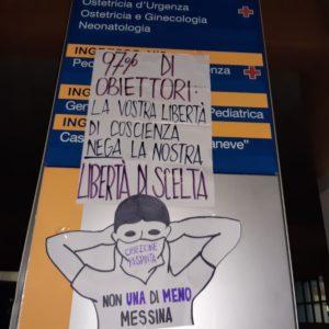 Messina: azione notturna contro gli obiettori. Si chiede tavolo con la Regione
