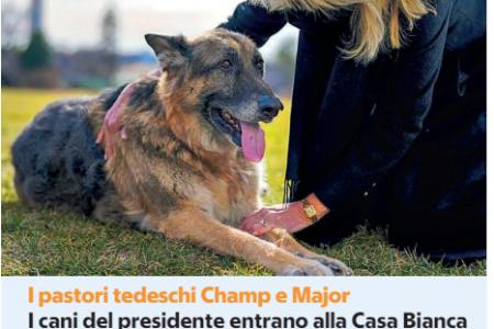 I cani di Biden arrivano alla Casa Bianca